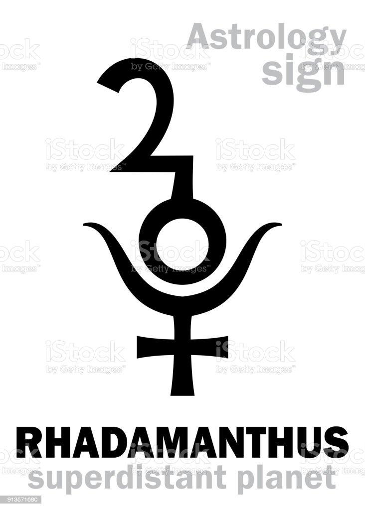 Astrology Alphabet Rhadamanthus Superdistant Planetplutino Stock