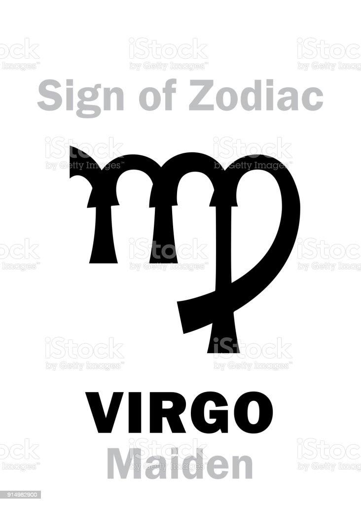Astrology Alphabet Sign Of Zodiac Virgo Stock Vector Art More