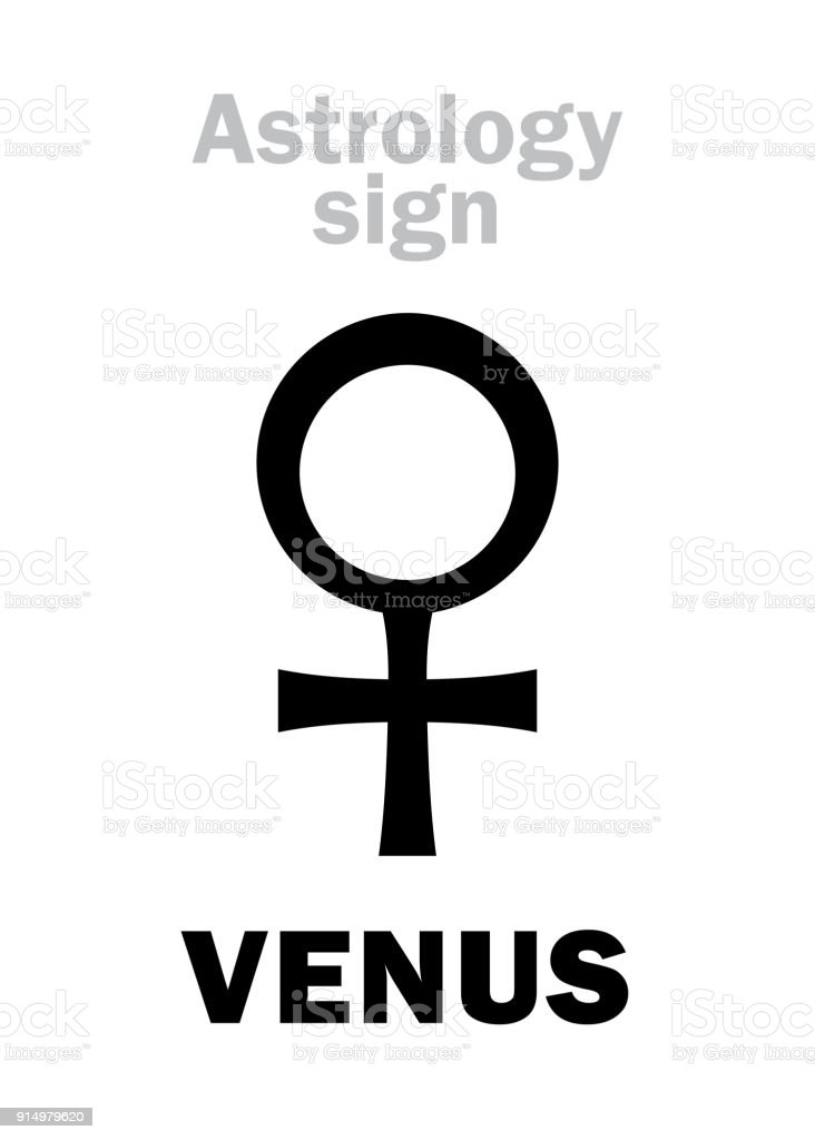 Astrology Alphabet Venus Stock Vector Art More Images Of Adult