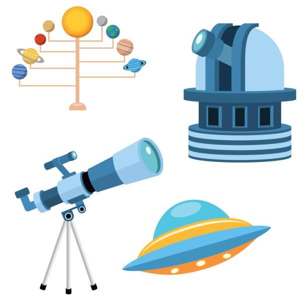 astrologie astronomie symbole planet wissenschaft universum raum radar kosmos unterzeichnen universum vektor-illustration - sternwarte stock-grafiken, -clipart, -cartoons und -symbole