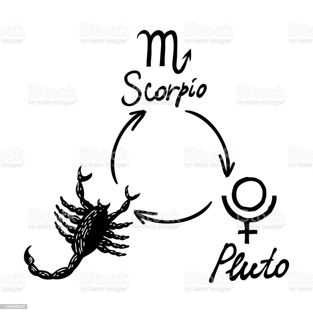 Astrology Horoscope Single Zodiac Symbol With Sign Scorpio