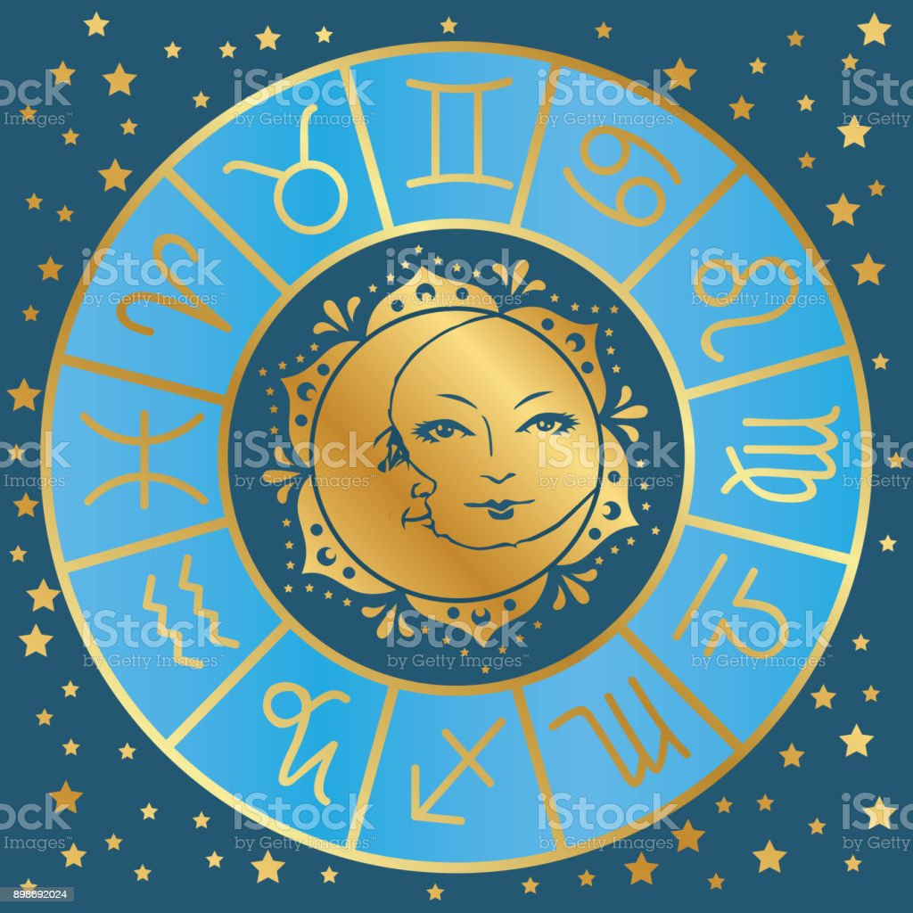 astrology vector art illustration