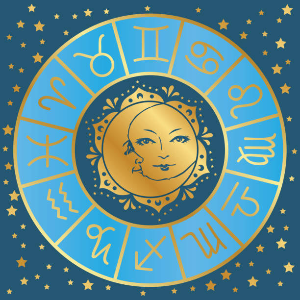 astrology vector art illustration