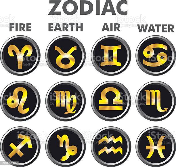 Astrology zodiak signs gold zodiac signs on black buttons vector id533922648?b=1&k=6&m=533922648&s=612x612&h=xf0muxxzndfefkalp ejmq4wvmmeisanltvbswk70o4=