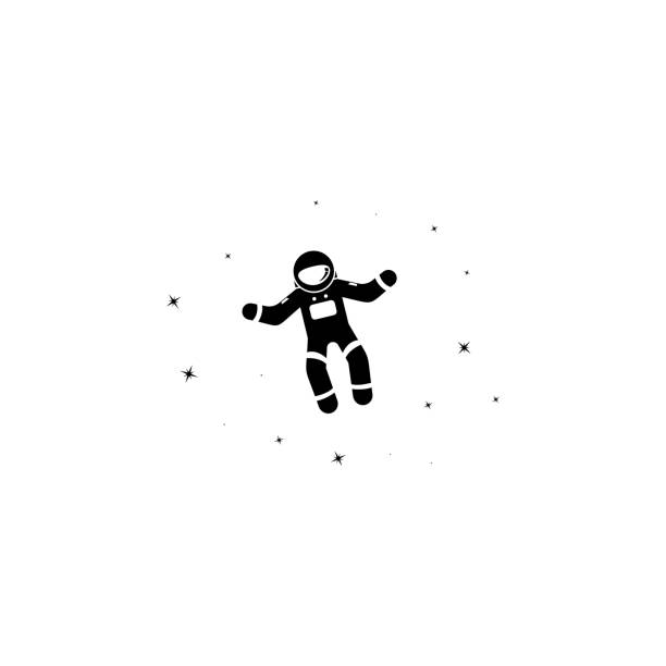 astronaut and stars icon. Element of stars icon. Premium quality graphic design. Signs and symbols collection icon for websites, web design, mobile app - illustrazione arte vettoriale