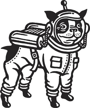 Astronaut Boston Terrier