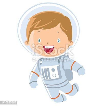 Vector astronaut boy