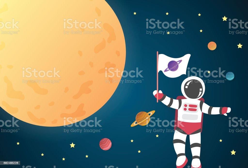 Astronaut cartoon on the moon in space,vector astronaut cartoon on the moon in spacevector — стоковая векторная графика и другие изображения на тему Астронавт Стоковая фотография