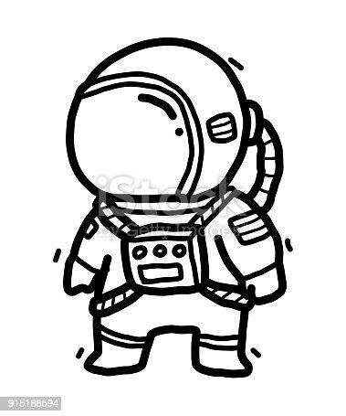 Ilustración de Astronauta De Historieta y más banco de imágenes de ...