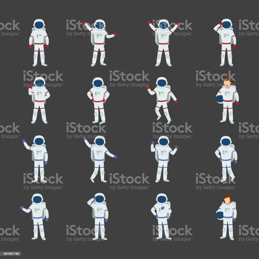 Astronaut Character - illustrazione arte vettoriale