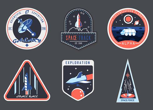 Astronaut chevron or spaceman suit patch,cosmonaut