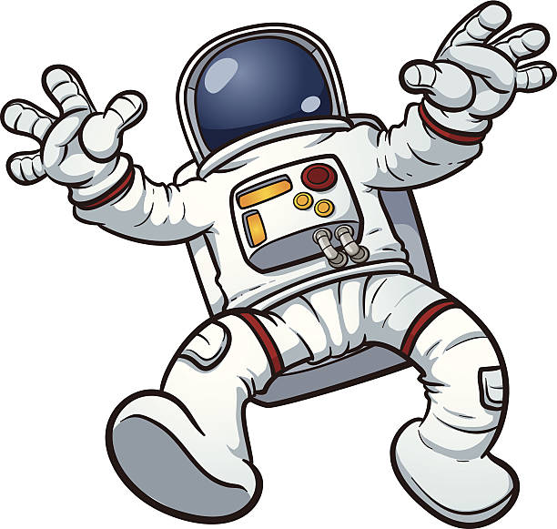 Astronaut clip art Astronaut clip art. Vector cartoon illustration with simple gradients. All in a single layer. astronaut floating in space stock illustrations
