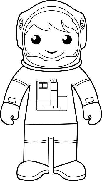 Vectores de Nave Espacial A Los Niños Para Colorear Página y ...