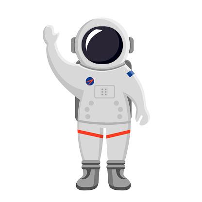 astronaut flat design isolated on white background