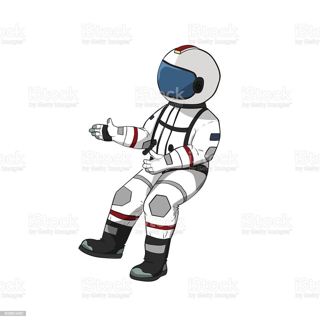 Astronaut Fly In Open ...