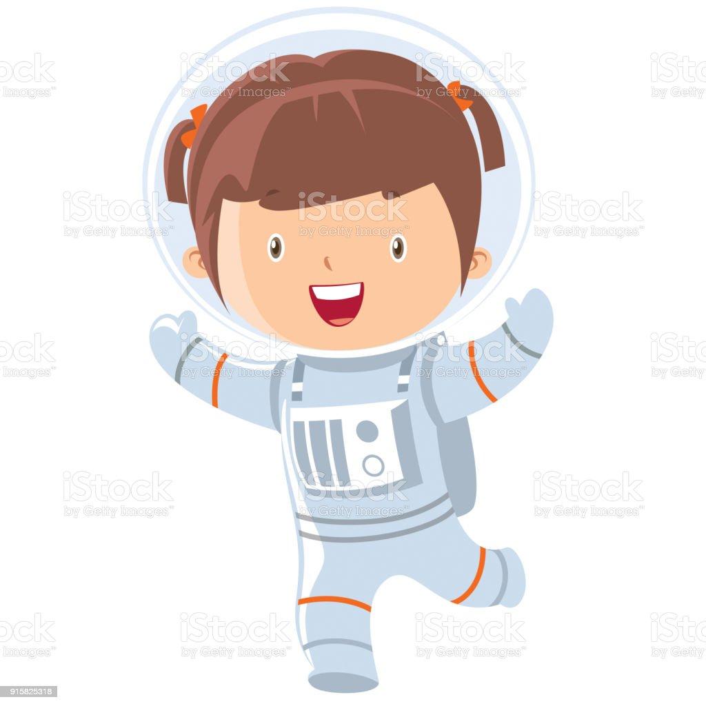 Astronaut Girl Stock V...