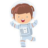 istock astronaut girl 915825318
