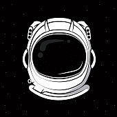 Astronaut helmet print for tshirt