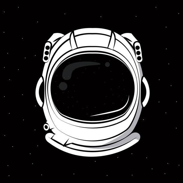 Astronaut helmet print for tshirt - illustrazione arte vettoriale