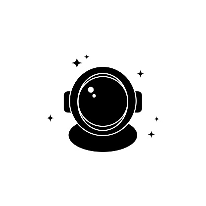 Astronaut helmet space icon. Vector on isolated white background. EPS 10