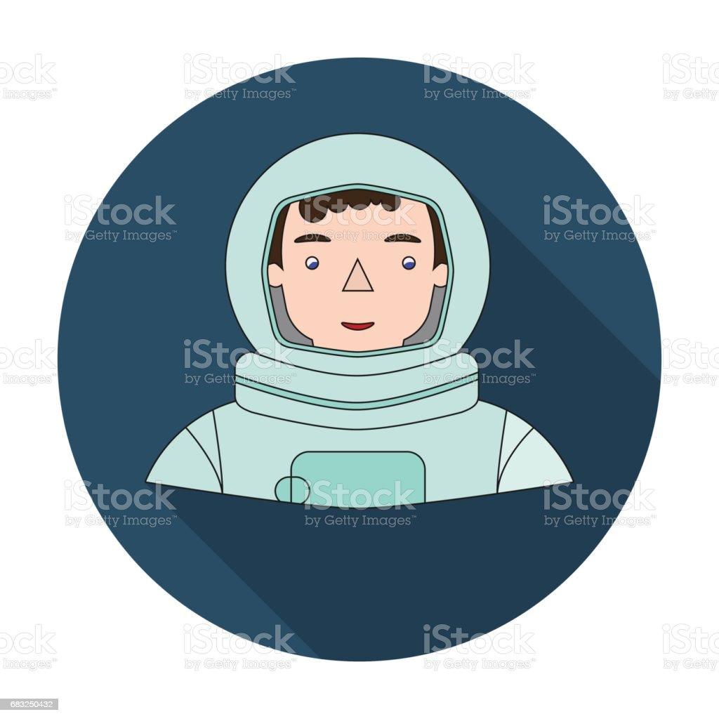 Astronaut icon in flat style isolated on white background. People of different profession symbol stock vector illustration. Lizenzfreies astronaut icon in flat style isolated on white background people of different profession symbol stock vector illustration stock vektor art und mehr bilder von astronaut