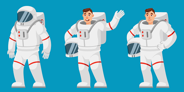 Astronaut in different poses.