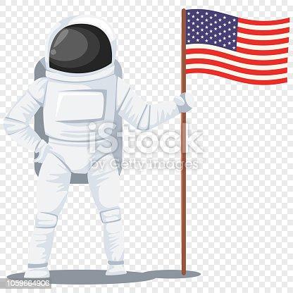 Astronaut, cosmonaut, space man vector character flat character.