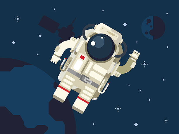 drawing of astronaut floating in space - photo #23