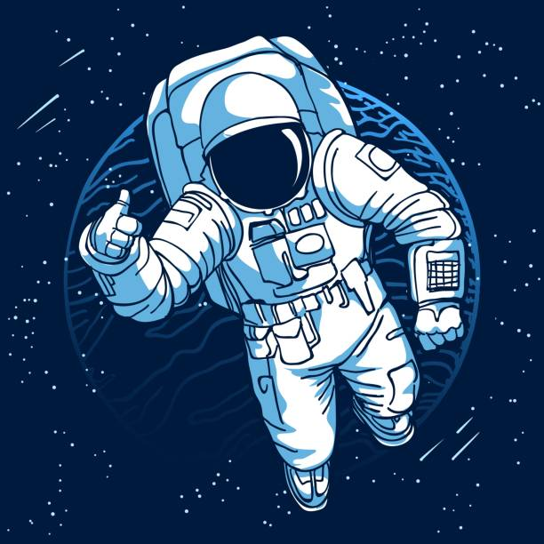 astronaut floating in space clipart - photo #4