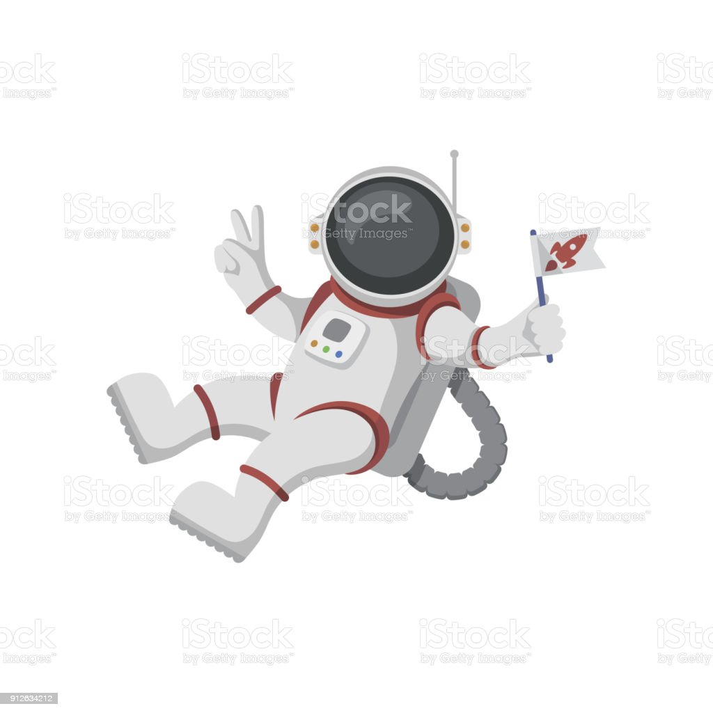 Astronaut isolated on white background - illustrazione arte vettoriale