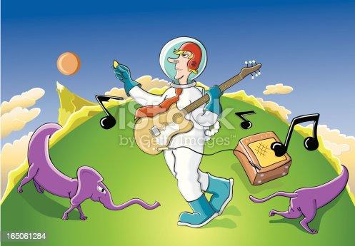 istock Astronaut musician - L'Astronaute musicien 165061284
