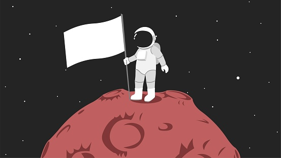 Astronaut on Mars