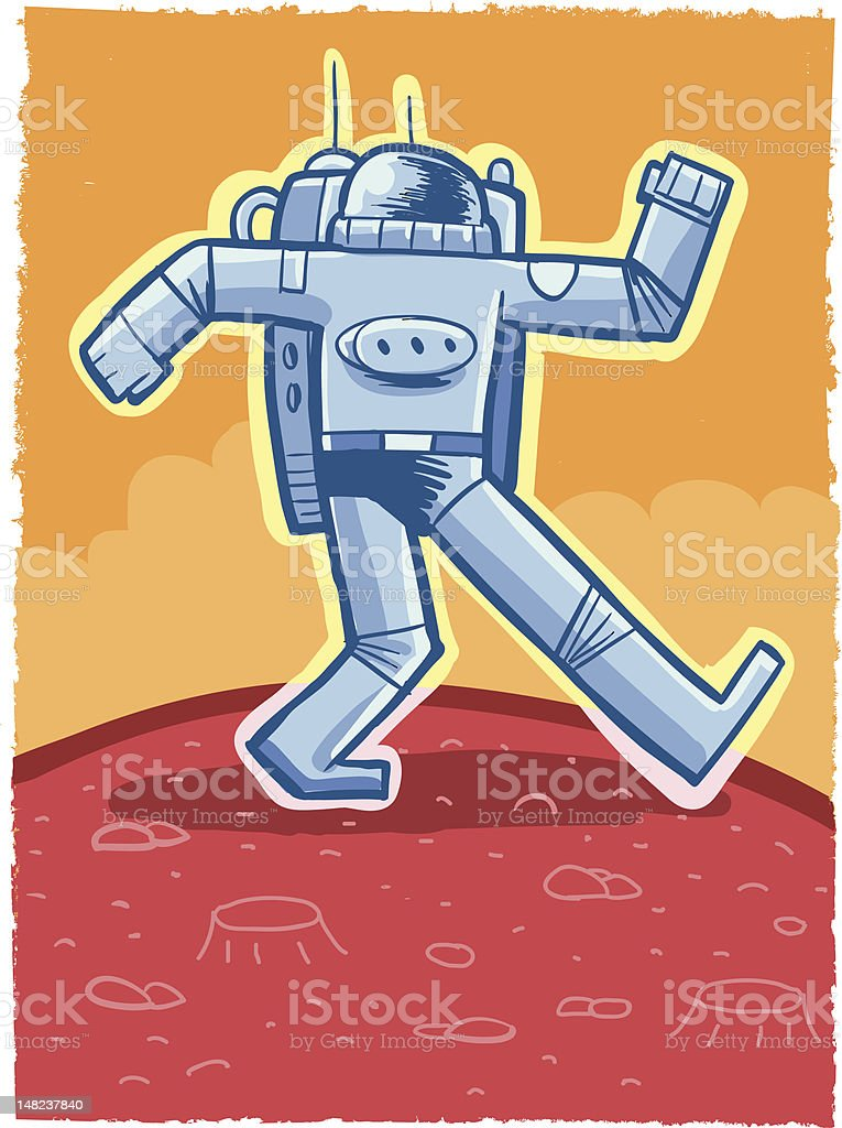 Astronaut on Mars royalty-free astronaut on mars stock vector art & more images of astronaut
