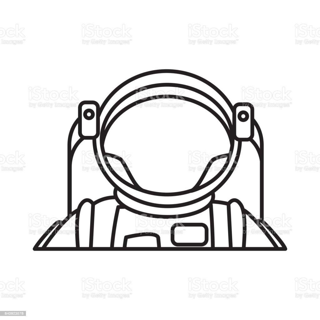 astronaut portrait in space suit helmet stock vector art more rh istockphoto com