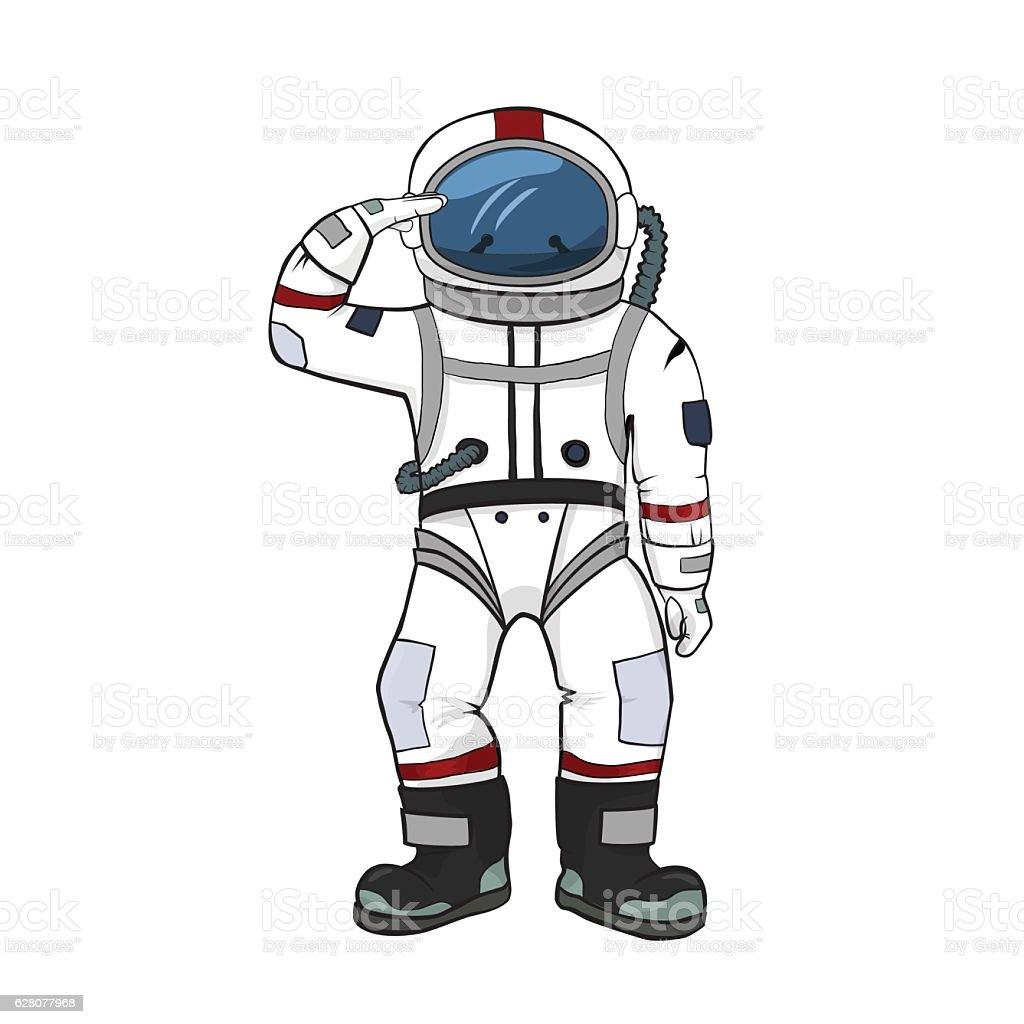 Astronaut Salutes Whit...