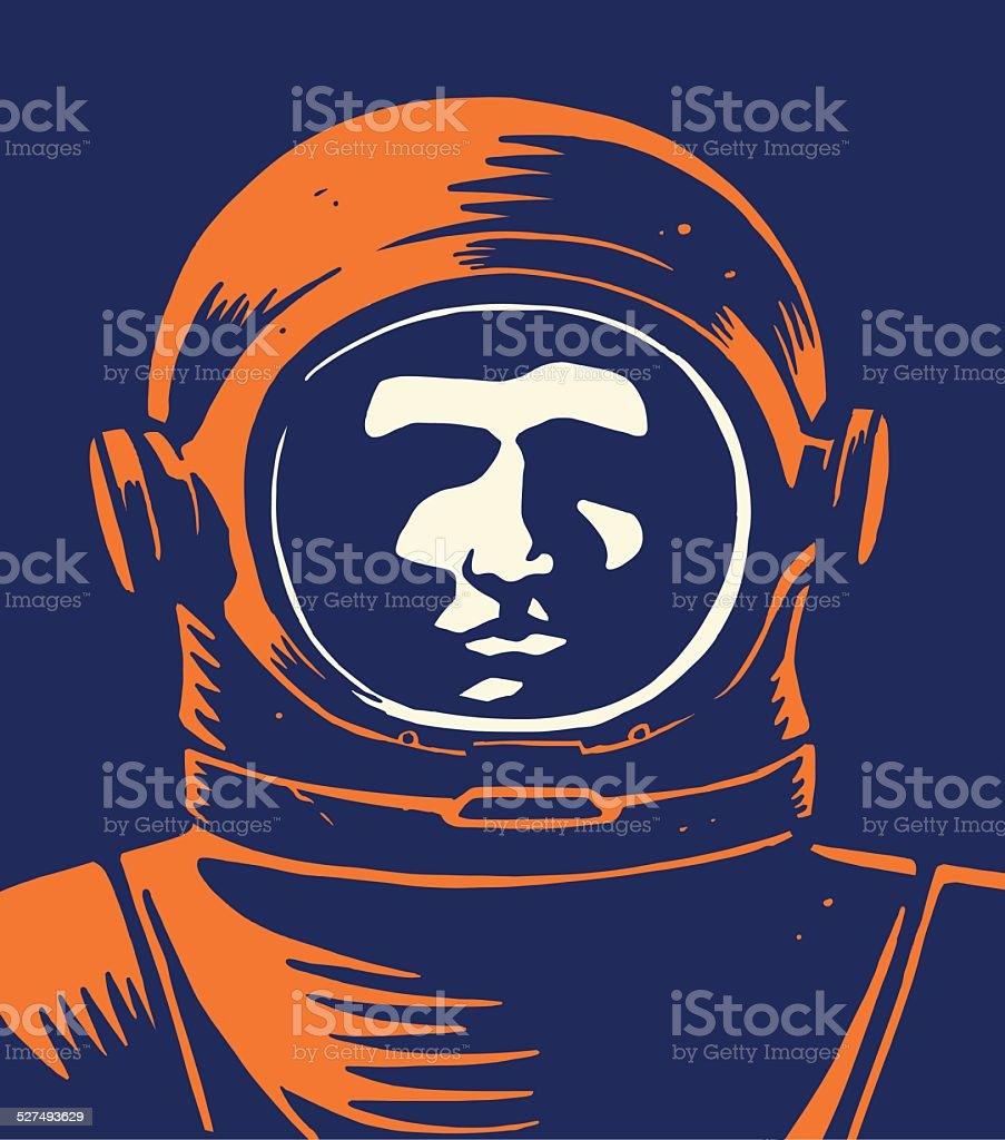 Astronaut vector art illustration