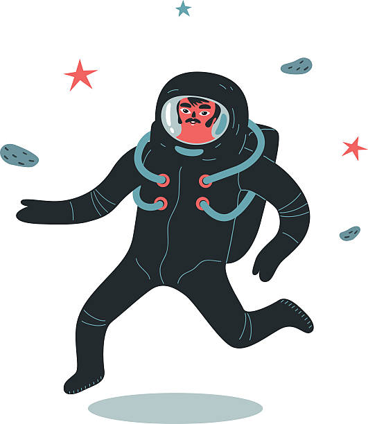 Astronaut Astronaut illustration. astronaut floating in space stock illustrations