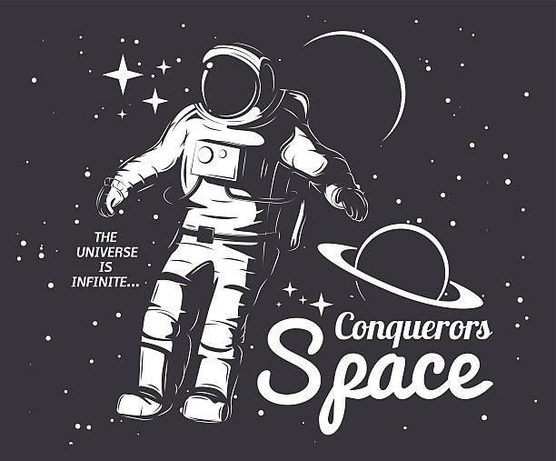 Astronaut Vector Illustration. - illustrazione arte vettoriale