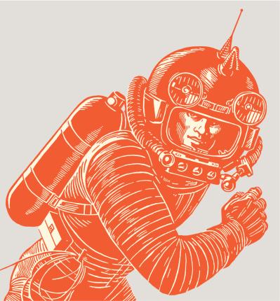 Astronaut Wearing A Spacesuit-vektorgrafik och fler bilder på Arbetshjälm