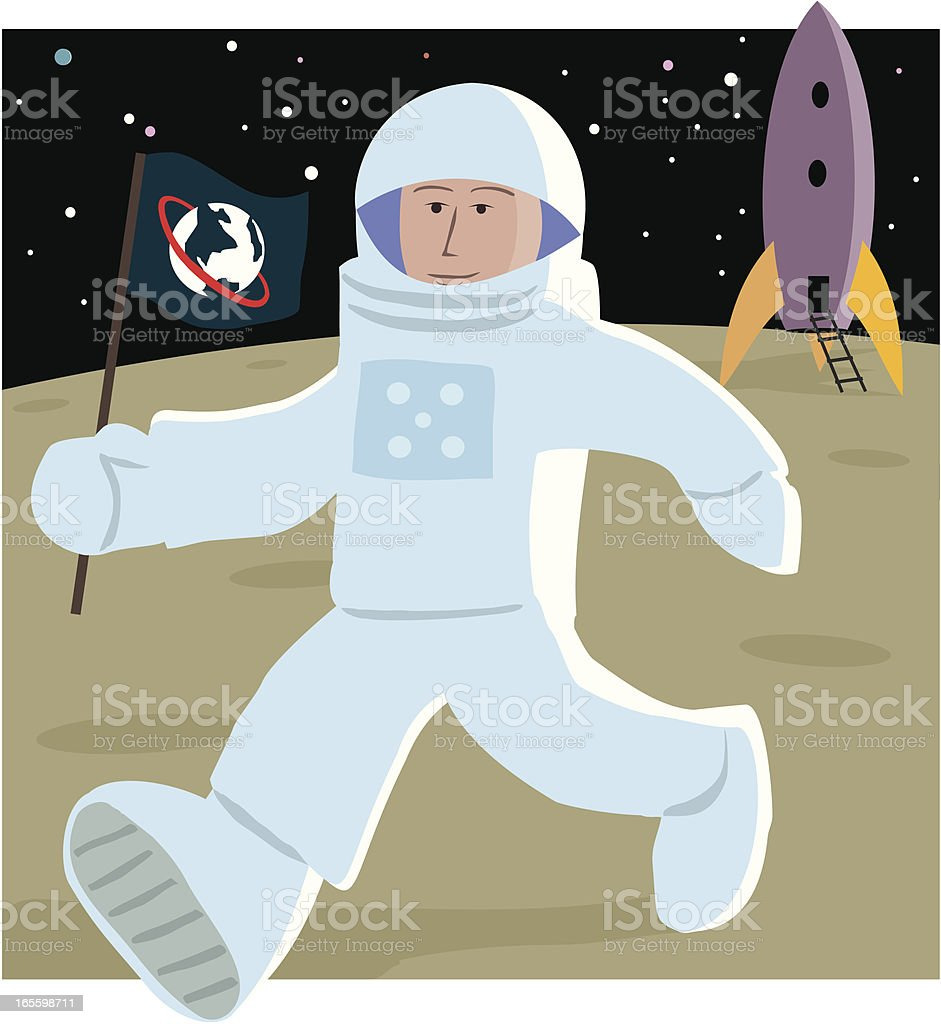 Astronaut with Flag royalty-free astronaut with flag stock vector art & more images of astronaut