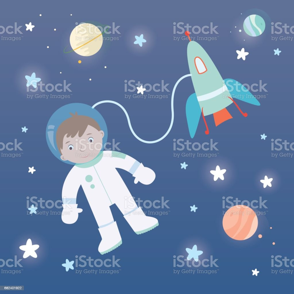 Astronaut_Child_Space royalty-free astronautchildspace stock vector art & more images of adventure