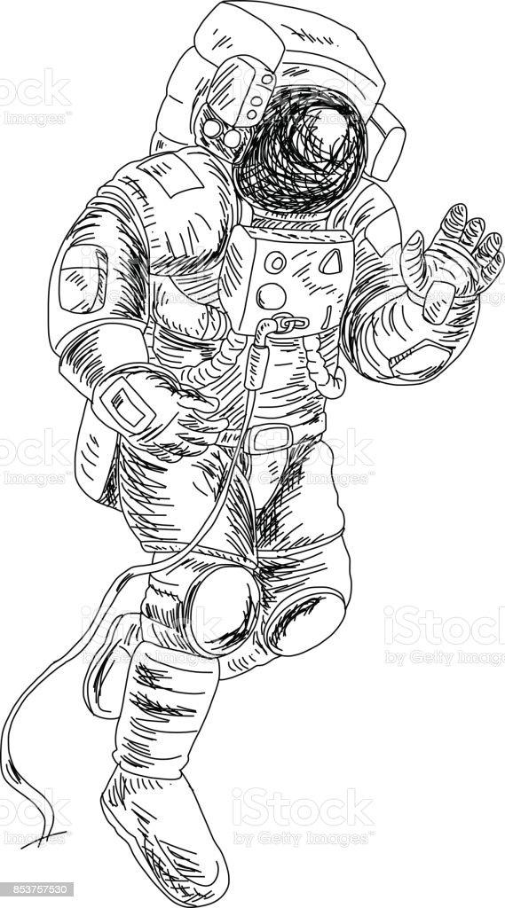 Ilustración de Caracteres De Los Astronautas Set Stylespaceman ...