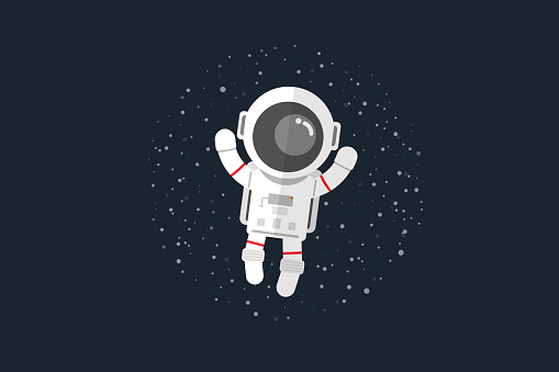 Astronauts float in space
