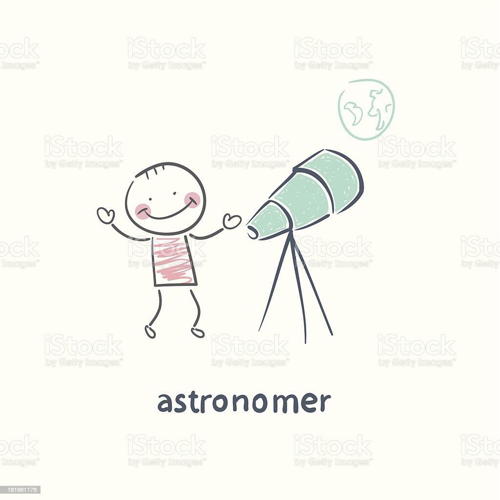 Astronome - Illustration vectorielle