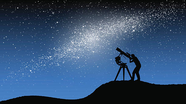 astronomical observations - astronomy telescope stock illustrations