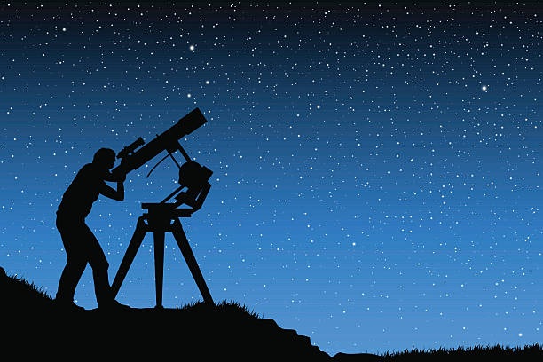 Royalty Free Astronomy Telescope Clip Art, Vector Images