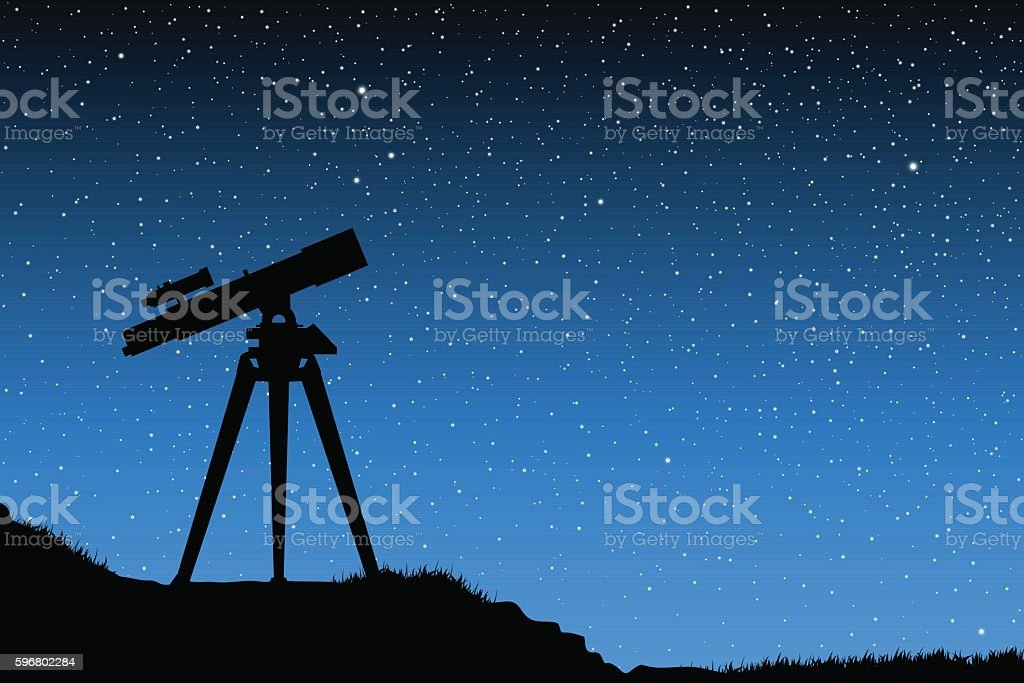 Observações de Astronomia  - ilustração de arte em vetor