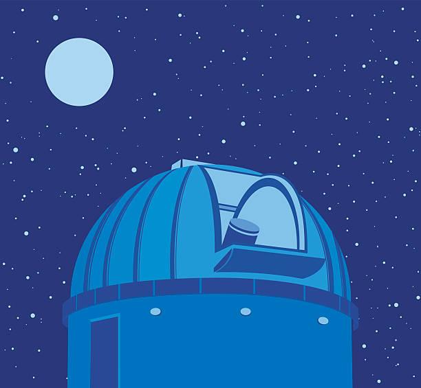 astronomische observatorium-teleskop - sternwarte stock-grafiken, -clipart, -cartoons und -symbole