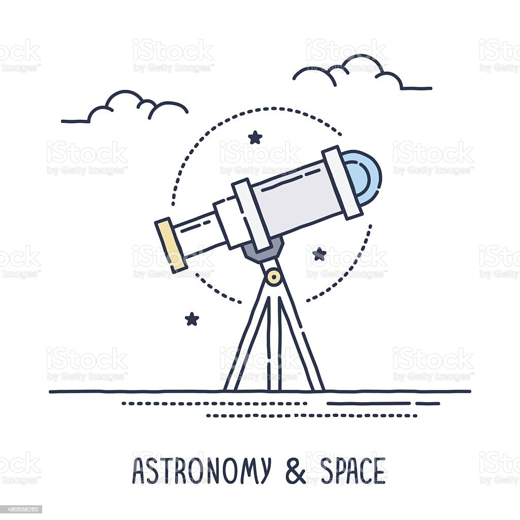 Astronomy and Space vector art illustration