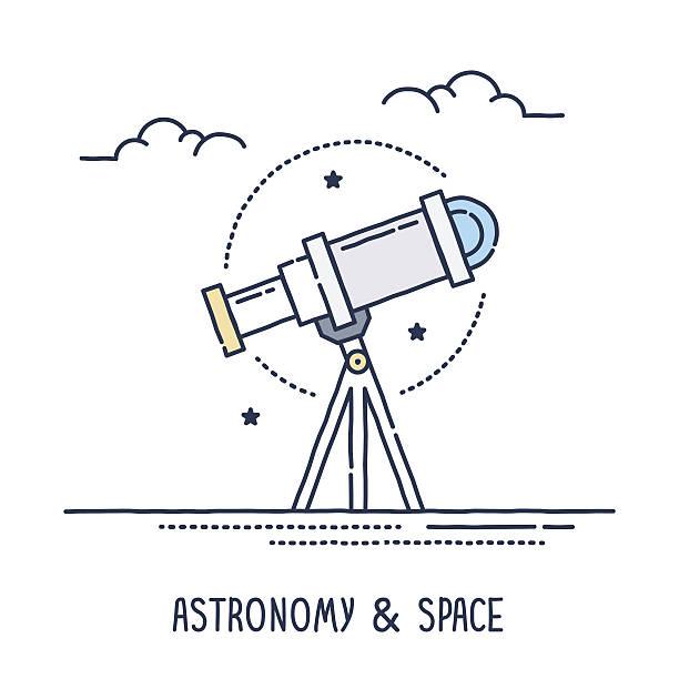 astronomie und weltraum - sternwarte stock-grafiken, -clipart, -cartoons und -symbole